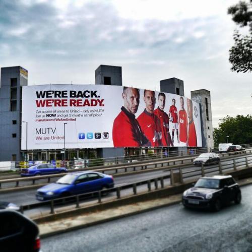 MUTV billboard