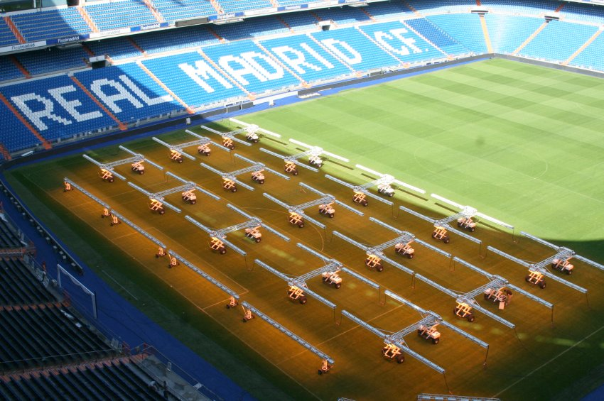 Real Madrid / Stadion Beleuchtung