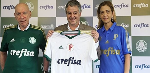 Paulo Nobre flanked by José Roberto Lamacchia & Leila Pereira