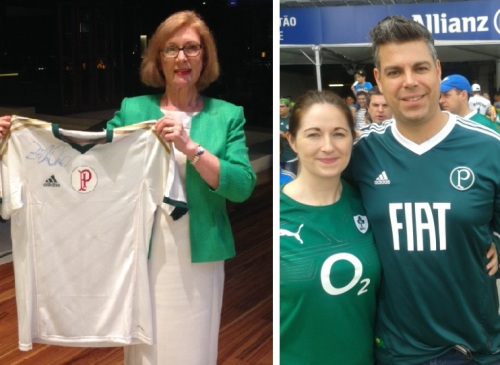 left: Minister O'Sullivan; right Consul General Lennon and yours truly.